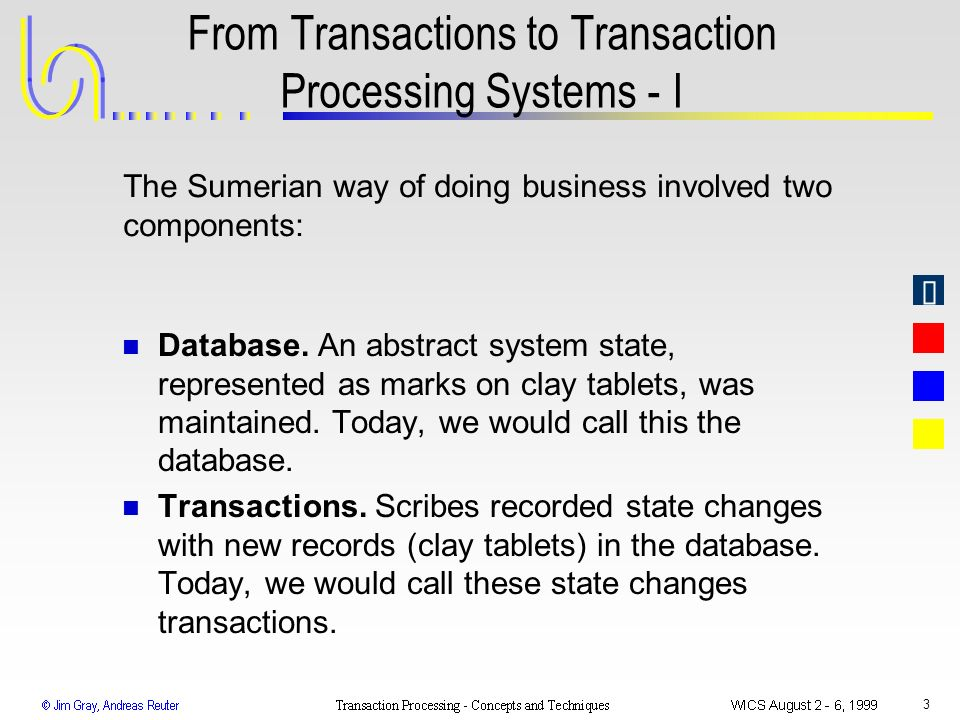 From Transactions to Transaction Processing Systems - I