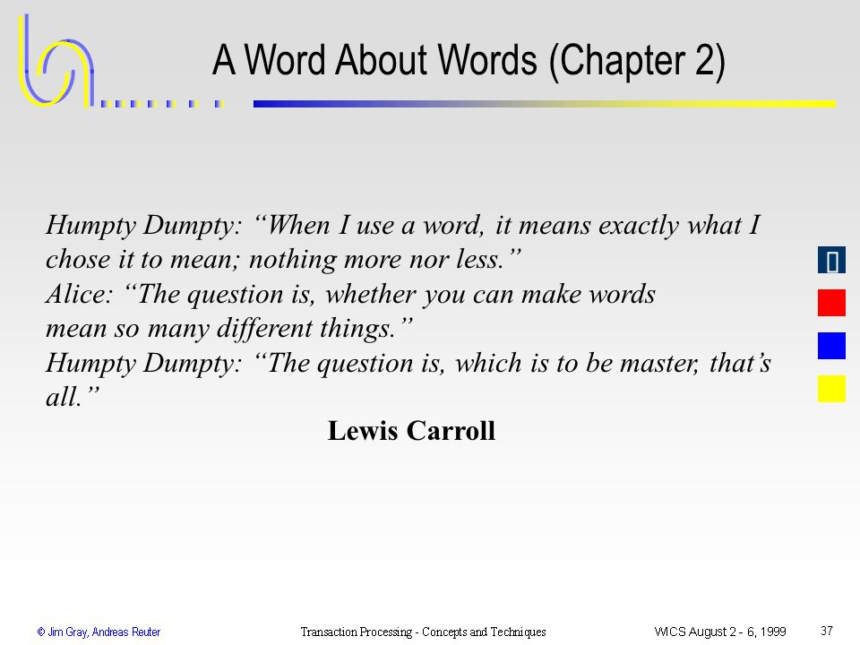 A Word About Words (Chapter 2)