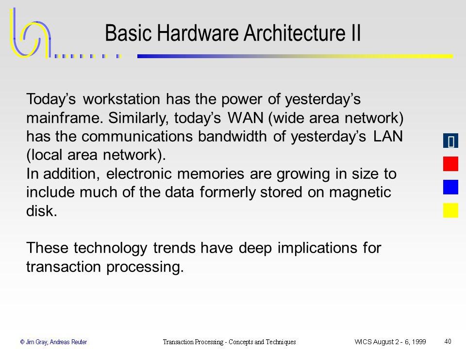 Basic Hardware Architecture II