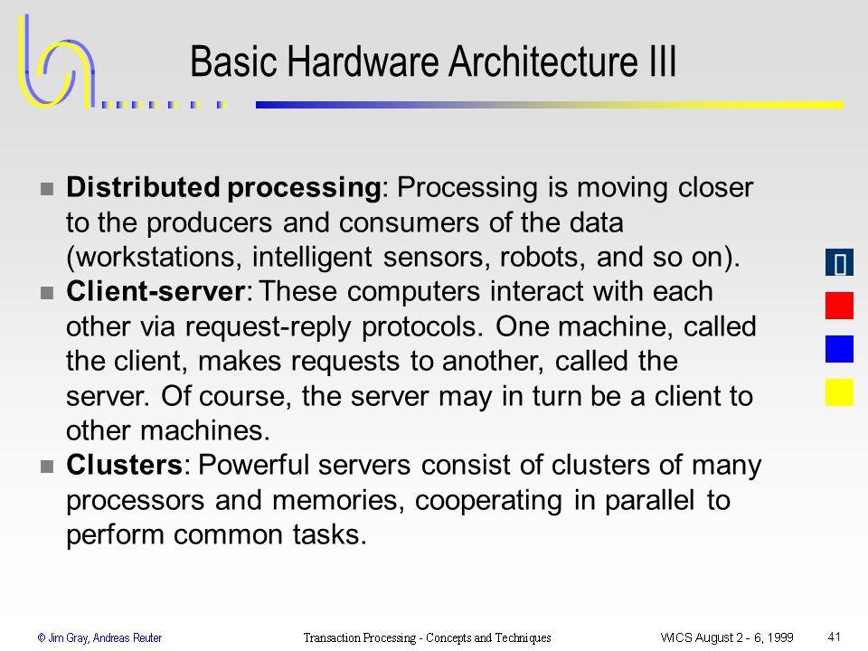 Basic Hardware Architecture III