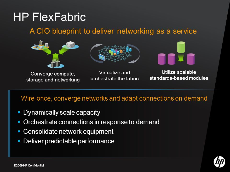 HP FlexFabric A CIO blueprint to deliver networking as a service