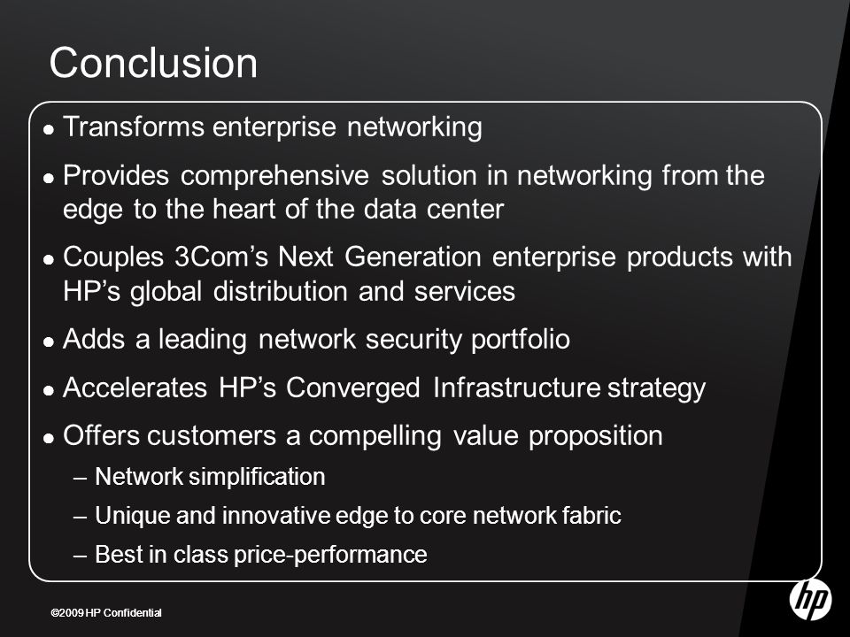 Conclusion Transforms enterprise networking