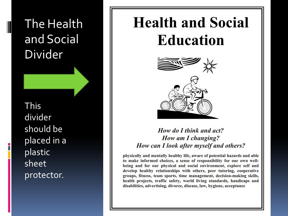 The Health and Social Divider