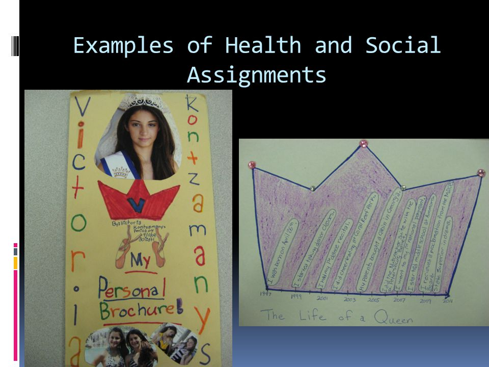 Examples of Health and Social Assignments