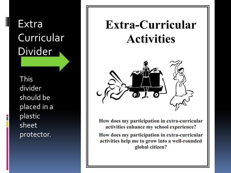 Extra Curricular Divider