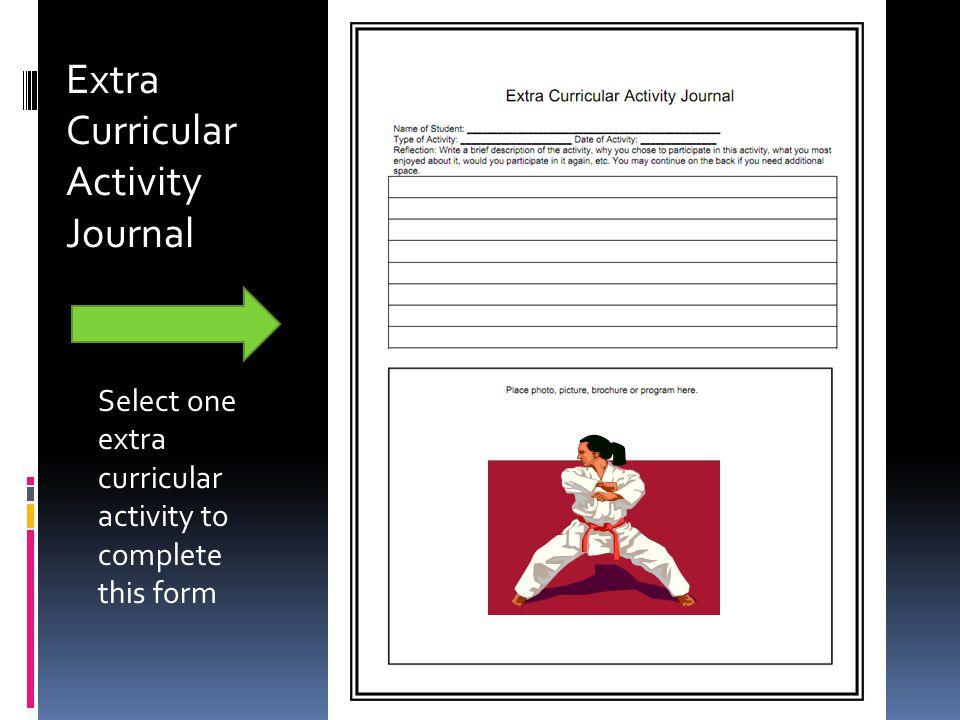 Extra Curricular Activity Journal