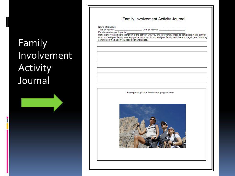 Family Involvement Activity Journal