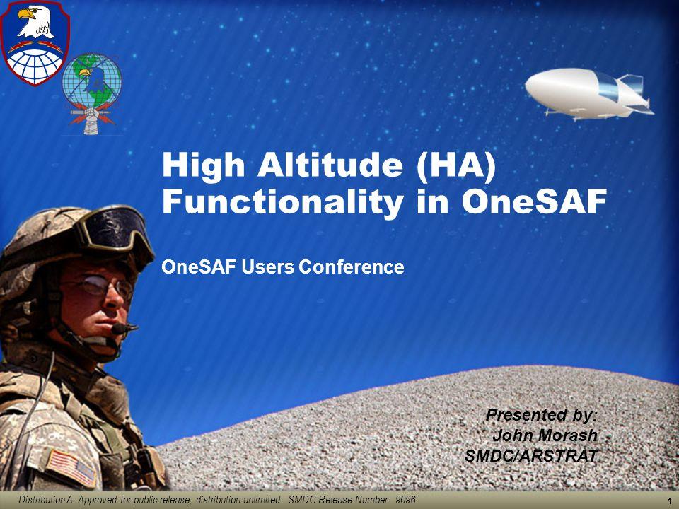 High Altitude (HA) Functionality in OneSAF