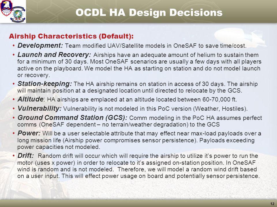 OCDL HA Design Decisions
