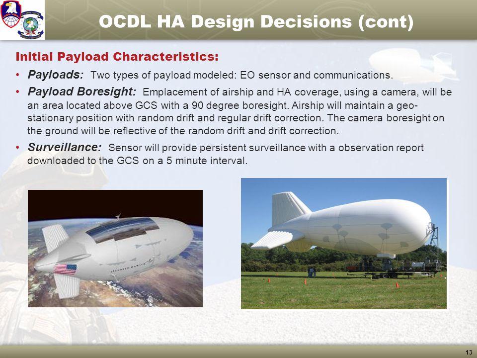 OCDL HA Design Decisions (cont)