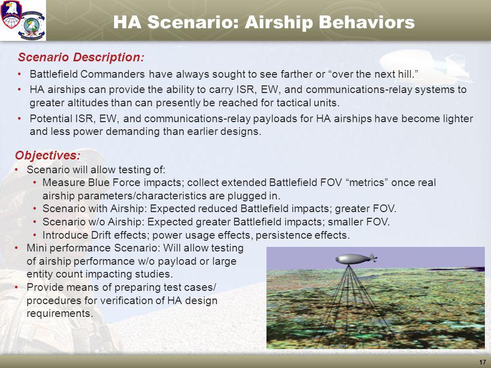 HA Scenario: Airship Behaviors