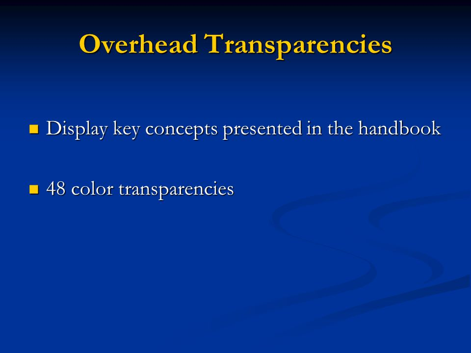 Overhead Transparencies