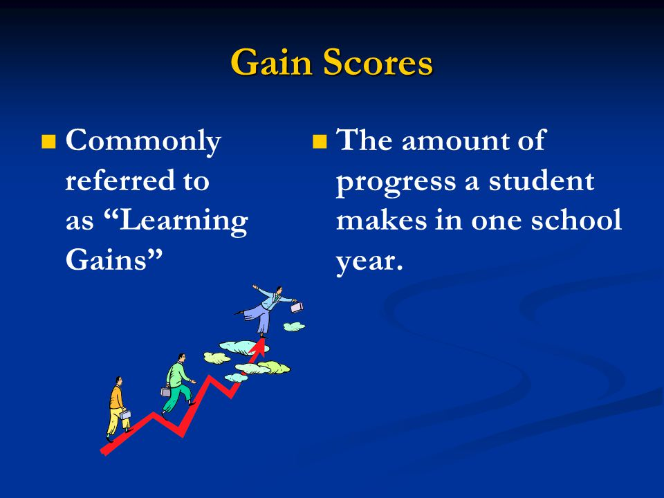 Gain Scores Commonly referred to as Learning Gains