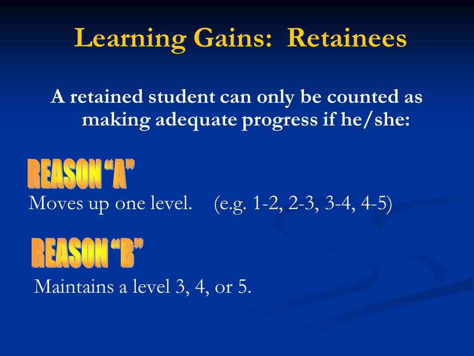 Learning Gains: Retainees