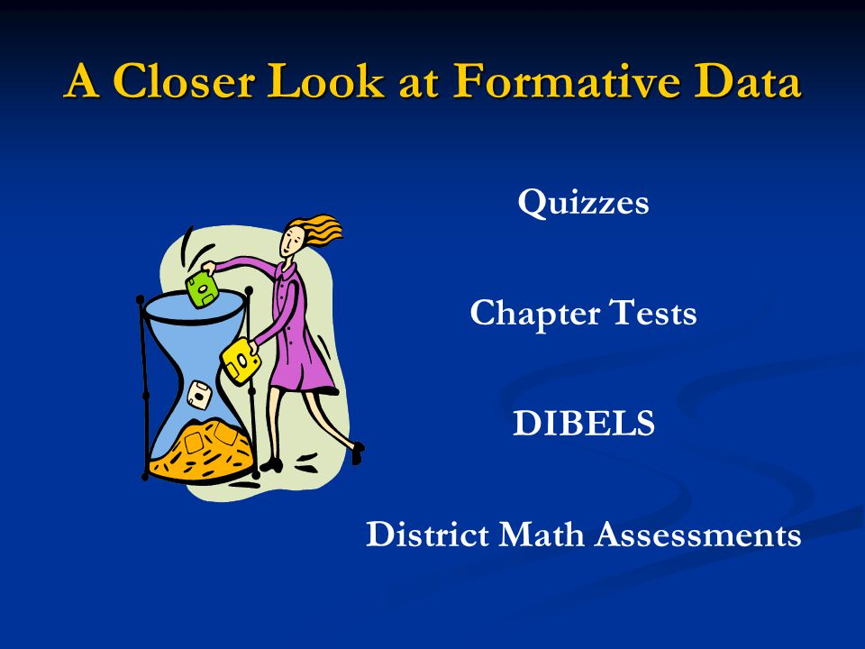 A Closer Look at Formative Data
