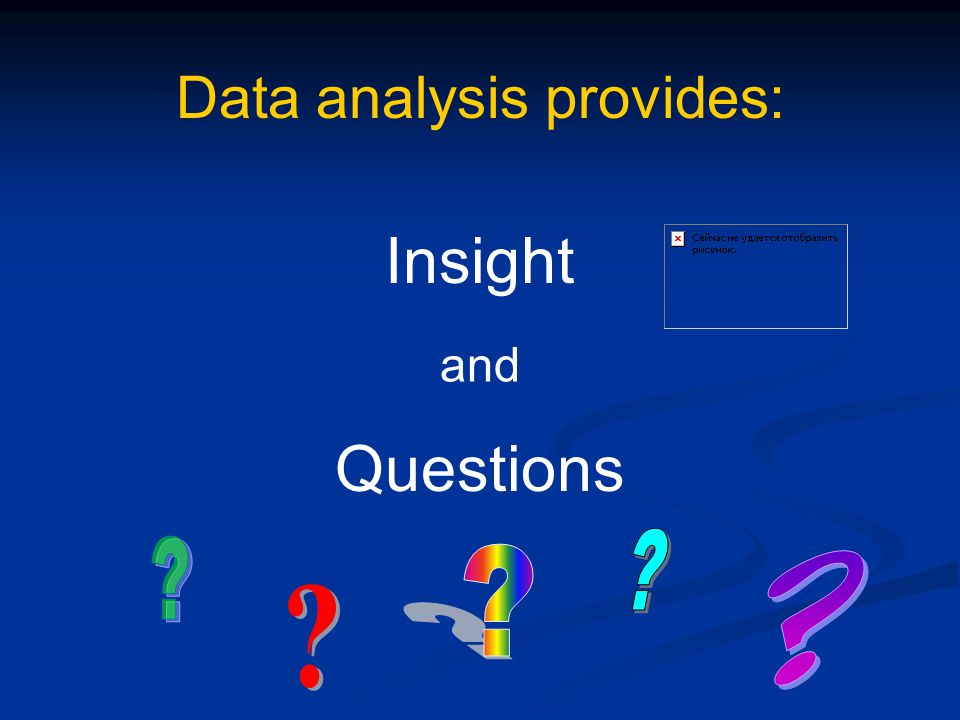 Data analysis provides: