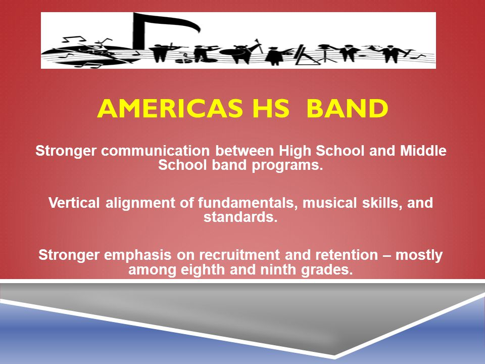 Vertical alignment of fundamentals, musical skills, and standards.