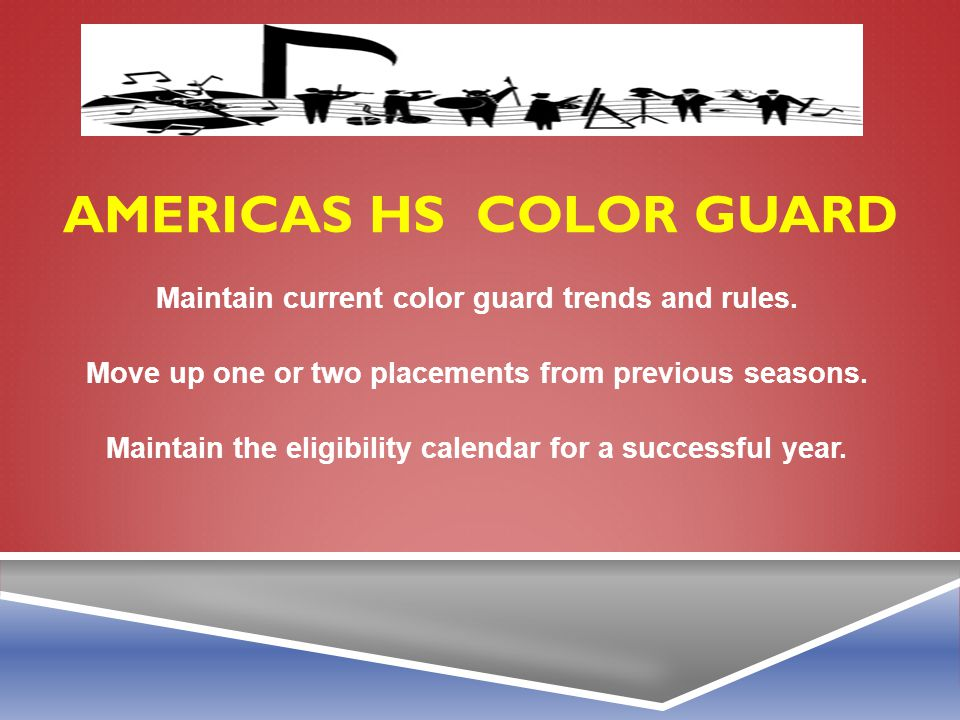 Americas HS color guard