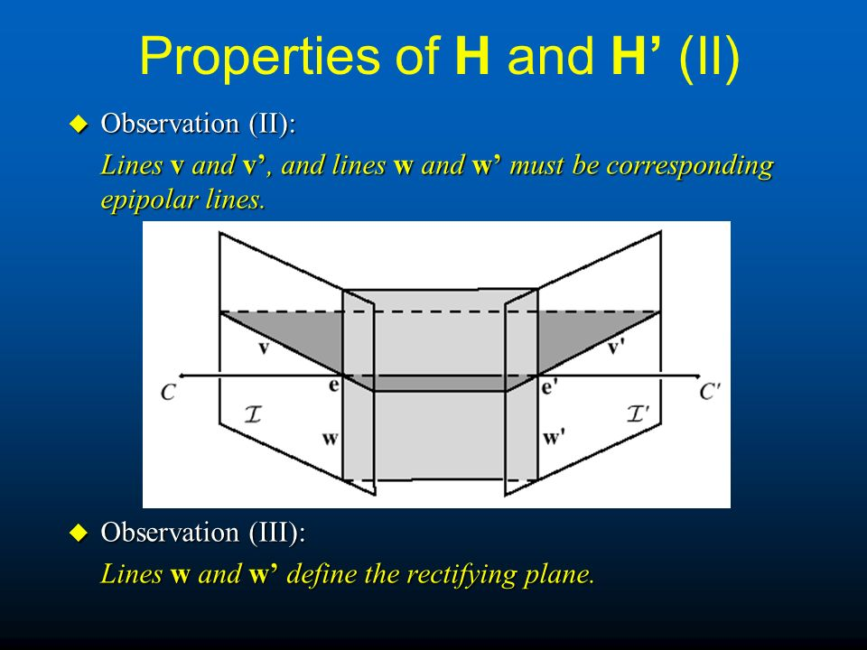 Properties of H and H' (II)