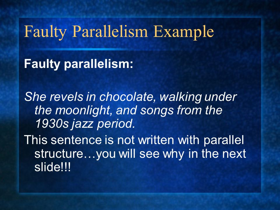 Faulty Parallelism Example