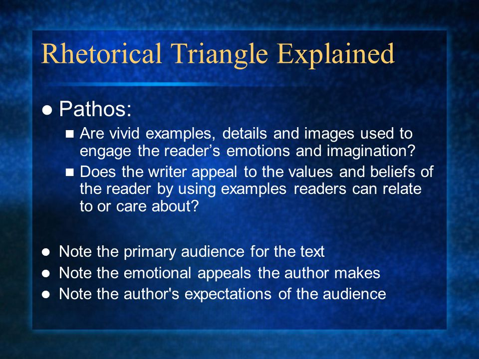 Rhetorical Triangle Explained