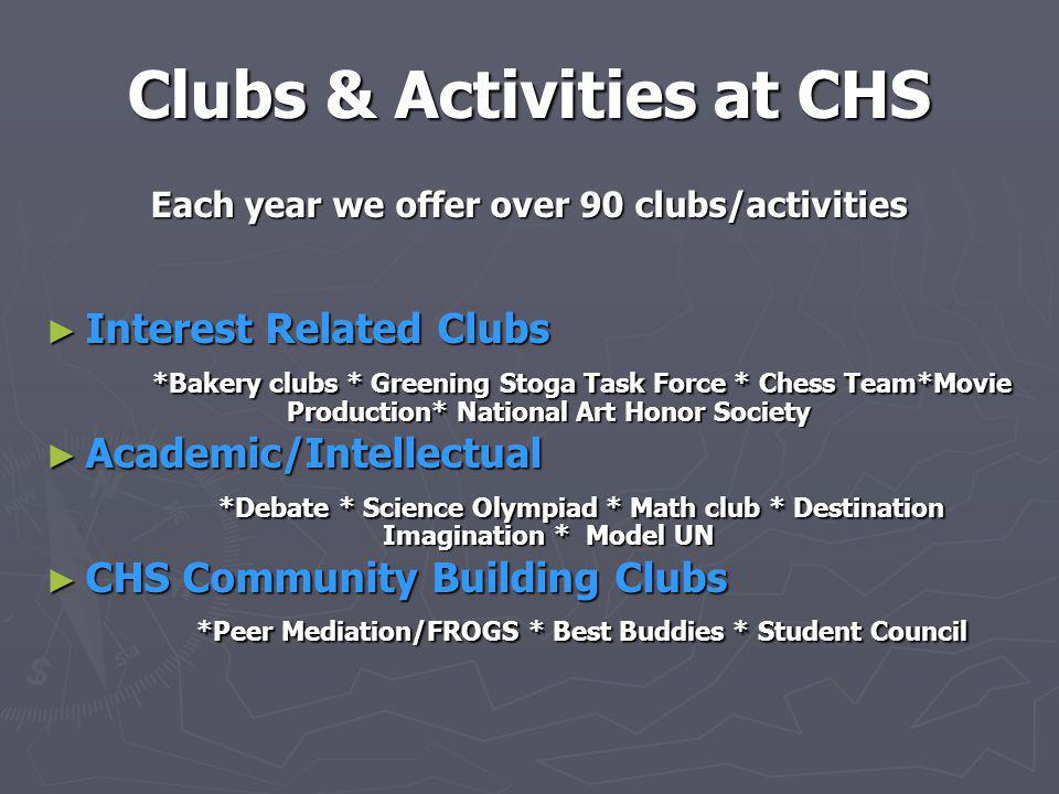 Clubs & Activities at CHS
