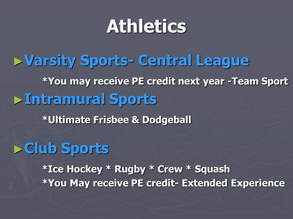 Athletics Varsity Sports- Central League