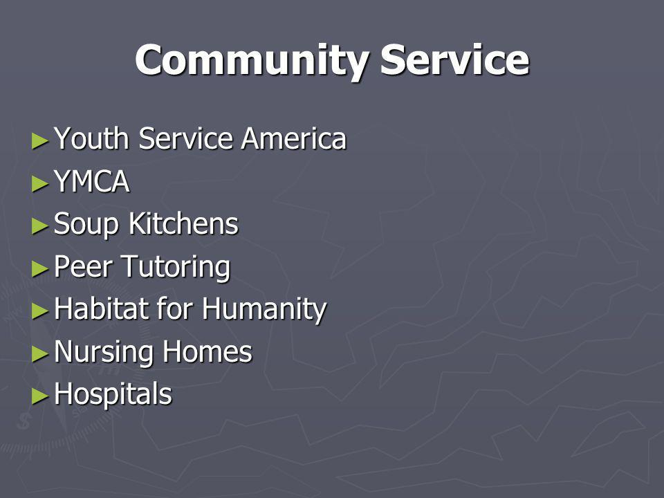 Community Service Youth Service America YMCA Soup Kitchens