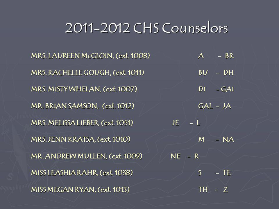 2011-2012 CHS Counselors