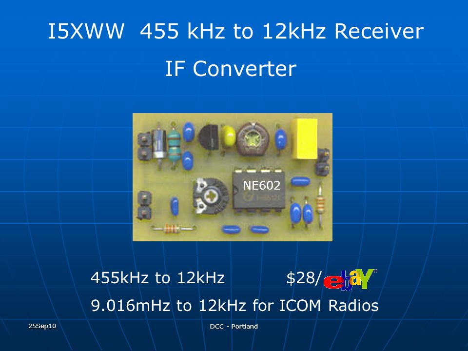 I5XWW 455 kHz to 12kHz Receiver IF Converter