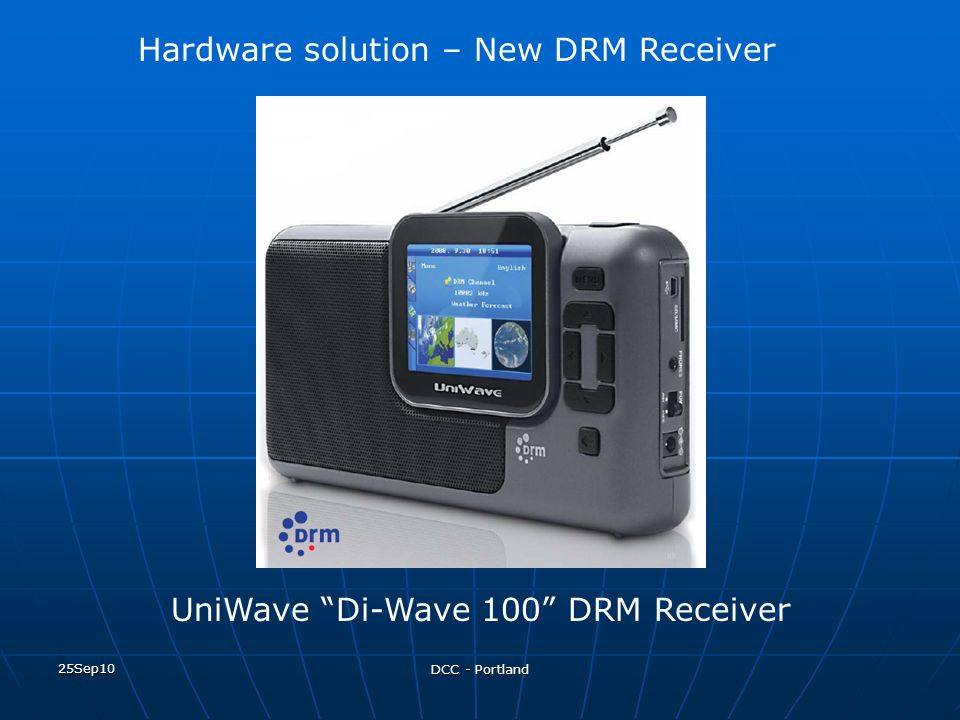 Hardware solution – New DRM Receiver