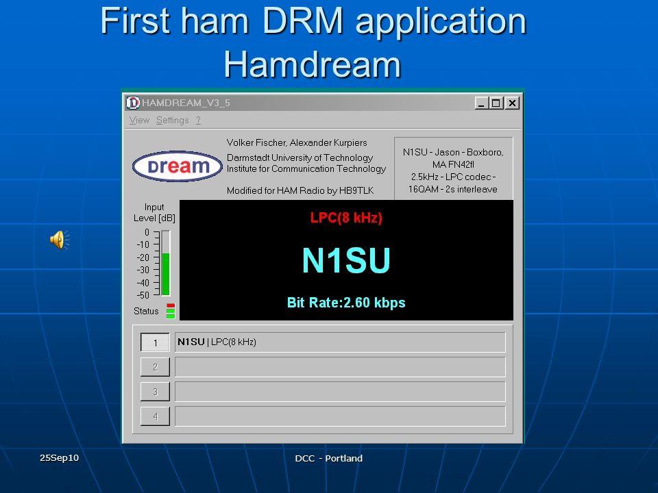 First ham DRM application Hamdream