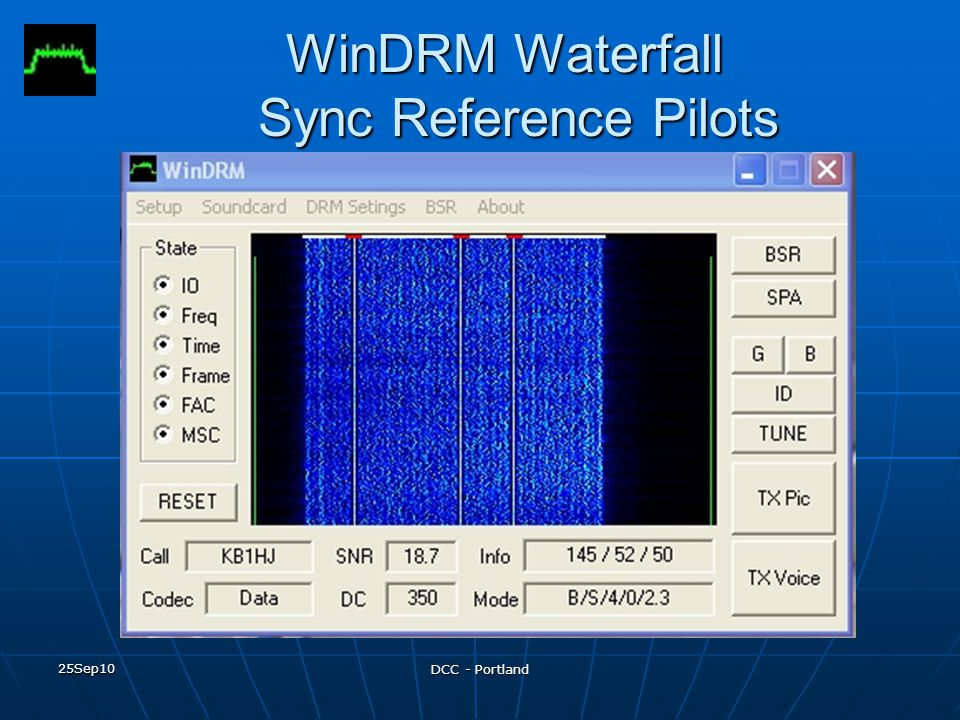 WinDRM Waterfall Sync Reference Pilots