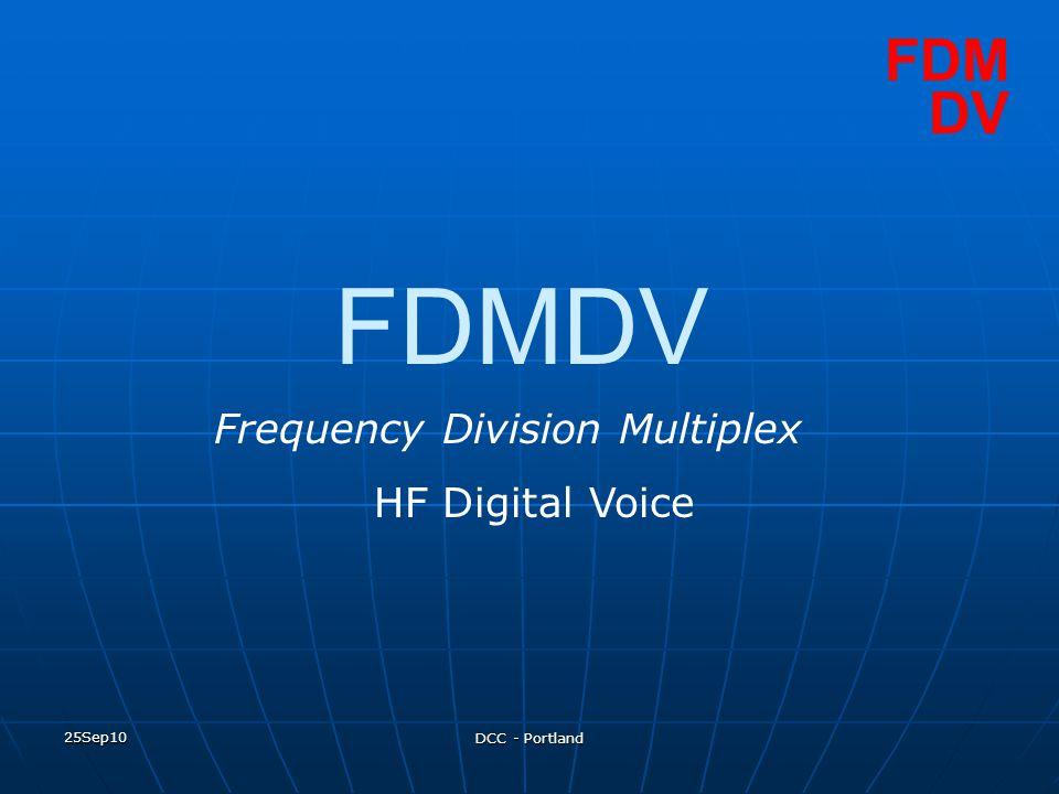 FDMDV FDM DV Frequency Division Multiplex HF Digital Voice 25Sep10
