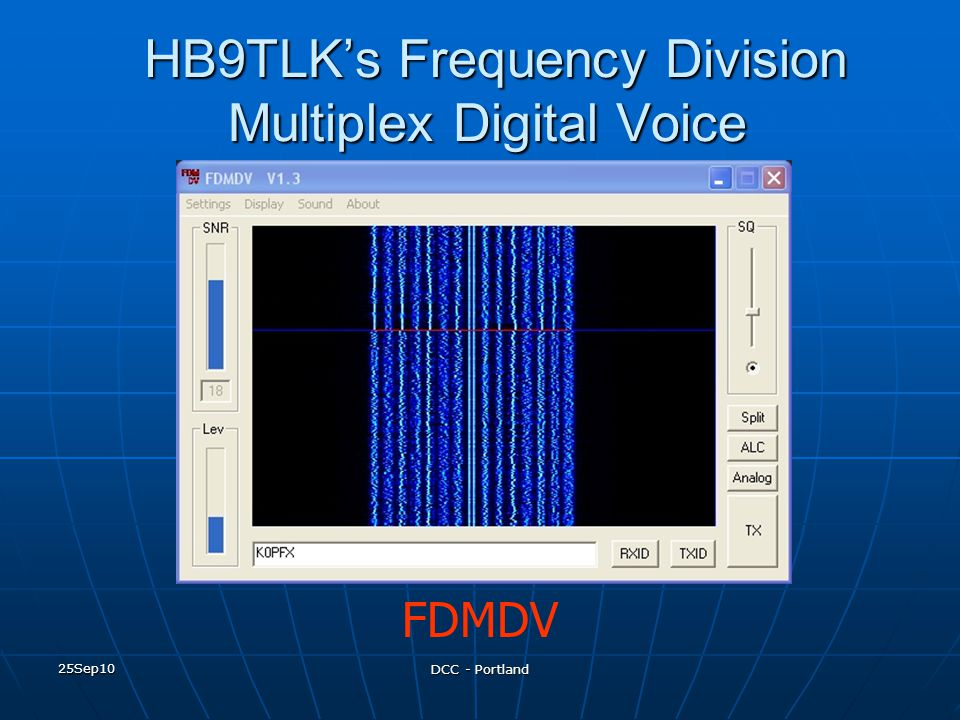 HB9TLK's Frequency Division Multiplex Digital Voice