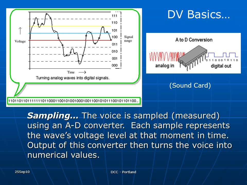 DV Basics… (Sound Card)