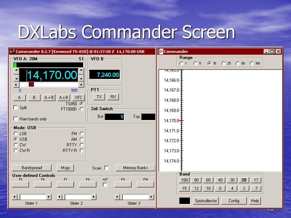 DXLabs Commander Screen
