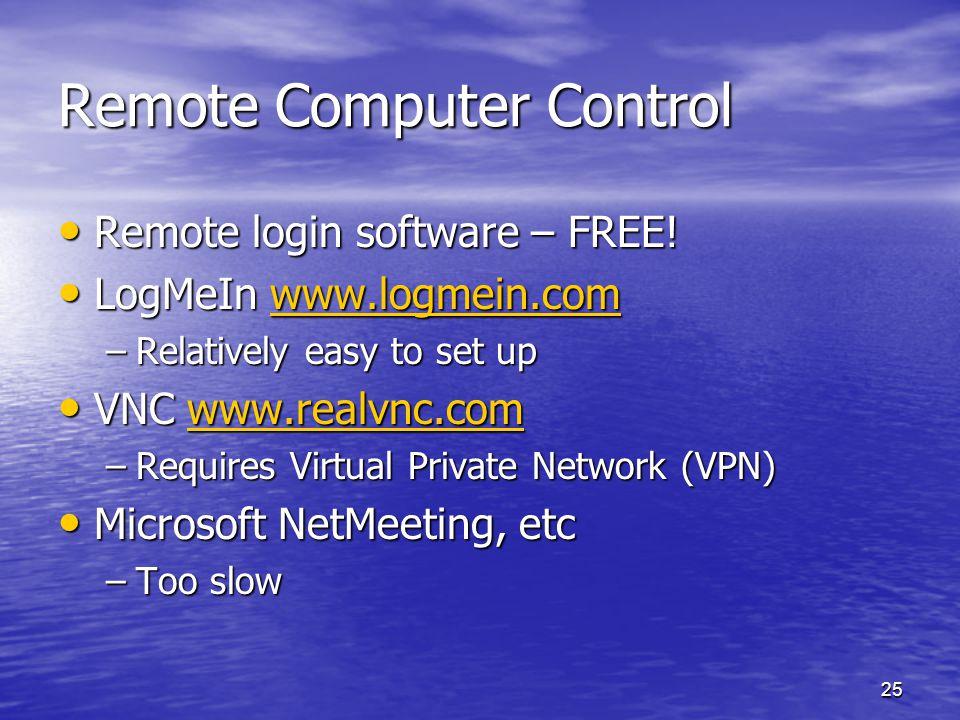 Remote Computer Control