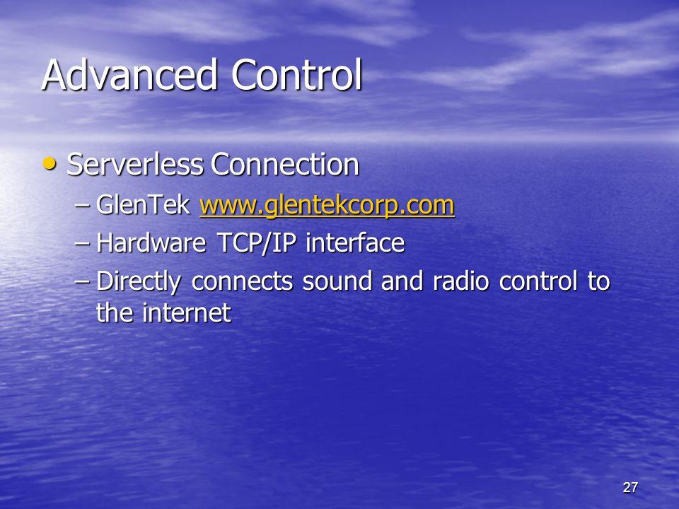 Advanced Control Serverless Connection GlenTek www.glentekcorp.com
