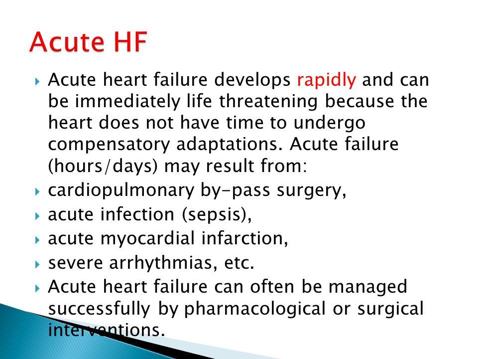 Acute HF