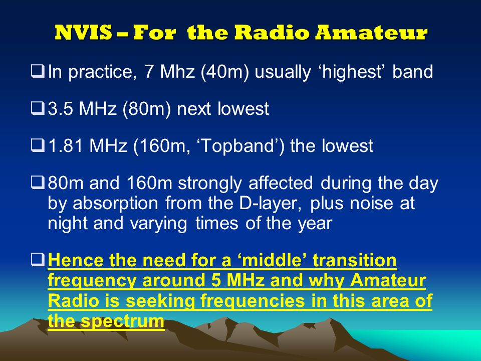 NVIS – For the Radio Amateur