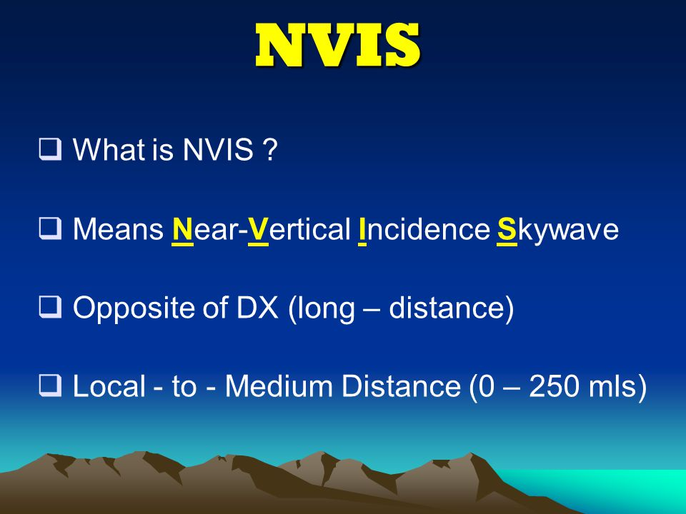 NVIS What is NVIS Means Near-Vertical Incidence Skywave