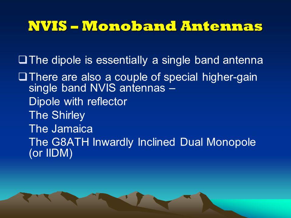 NVIS – Monoband Antennas