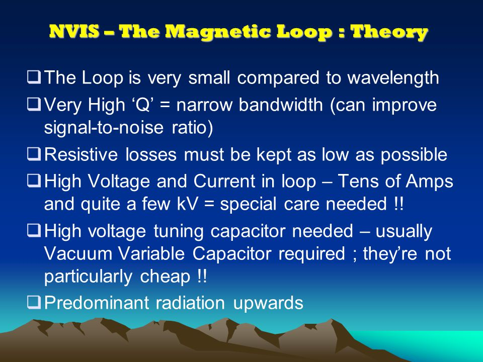NVIS – The Magnetic Loop : Theory