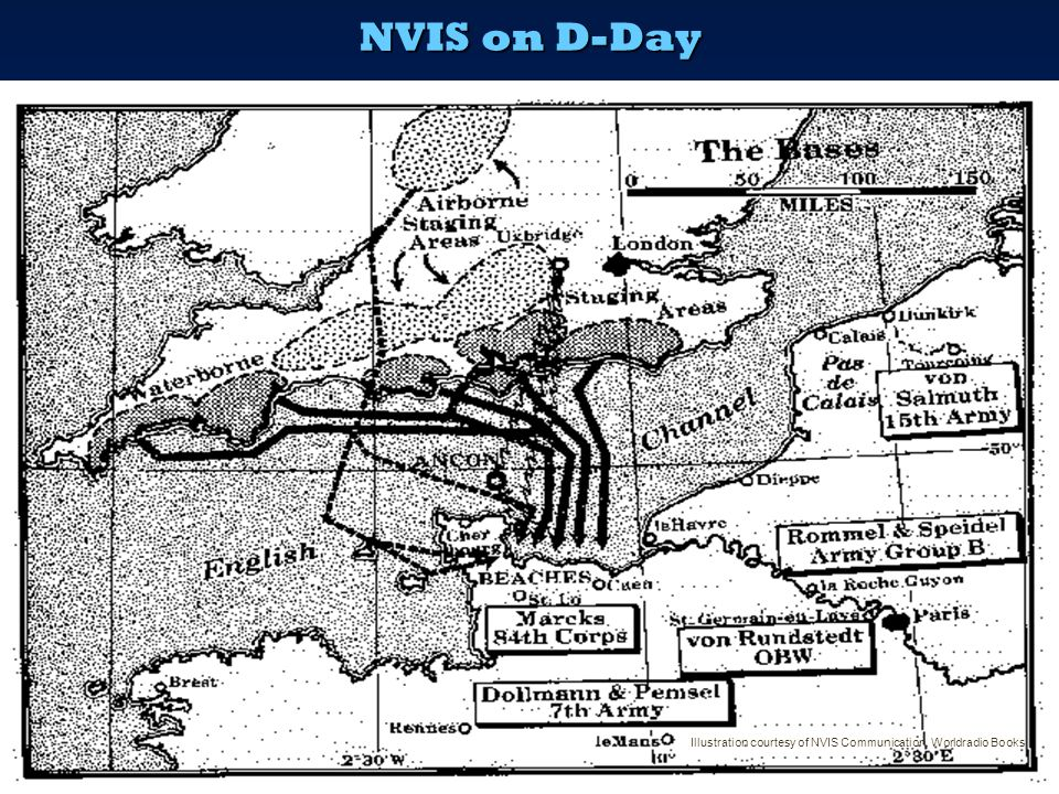 NVIS on D-Day Illustration courtesy of NVIS Communication, Worldradio Books