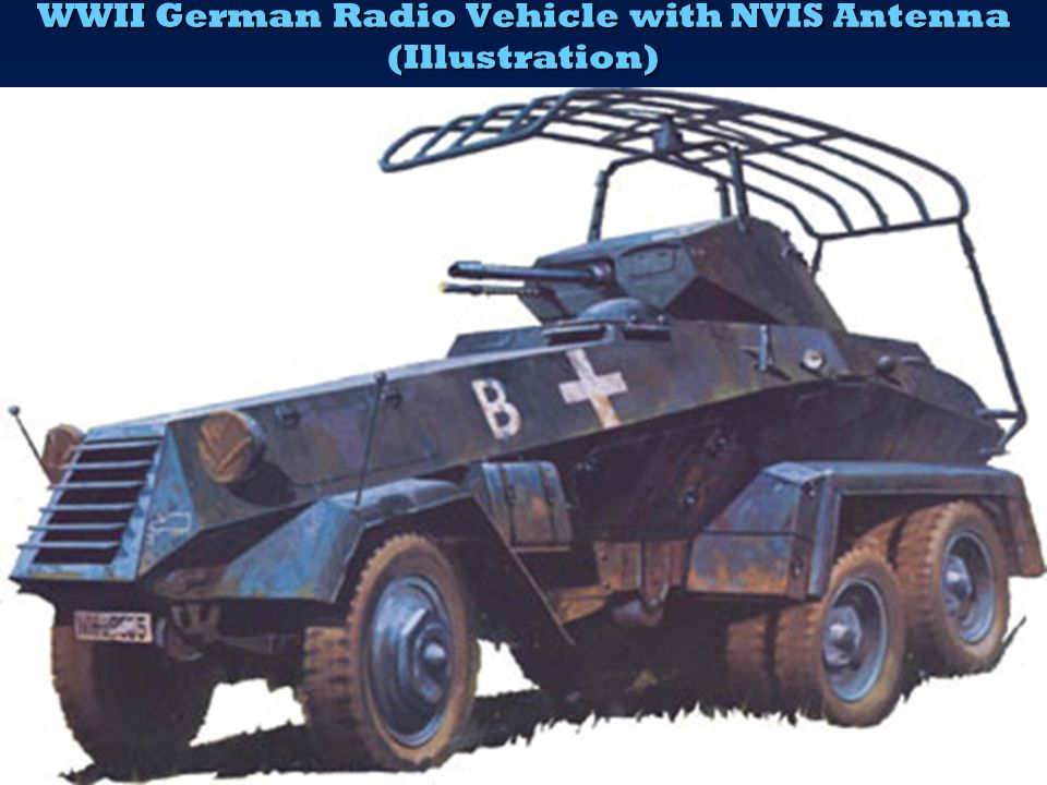 WWII German Radio Vehicle with NVIS Antenna (Illustration)