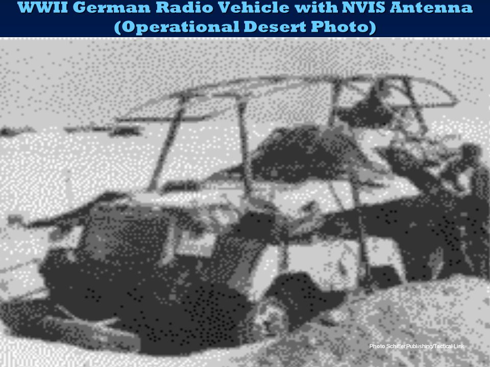 WWII German Radio Vehicle with NVIS Antenna (Operational Desert Photo)