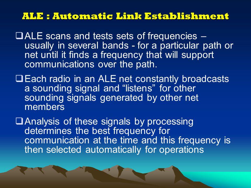 ALE : Automatic Link Establishment