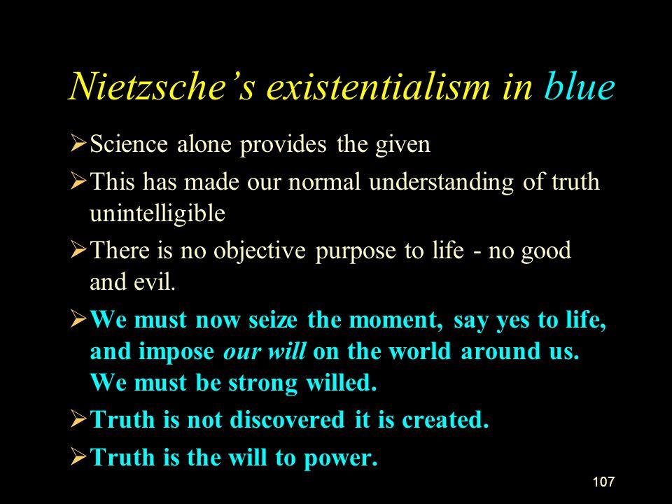 Nietzsche's existentialism in blue