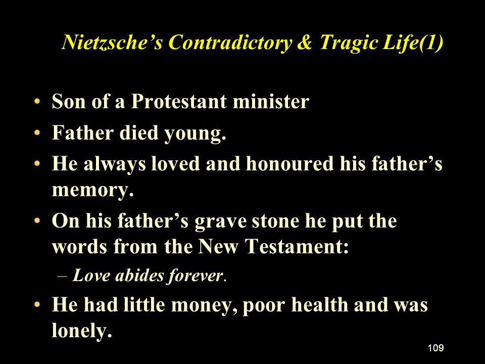 Nietzsche's Contradictory & Tragic Life(1)